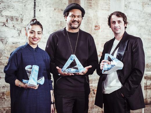 Womenswear winner Bodice; Innovation Prize winner DYNE; Menswear winner Matthew Miller