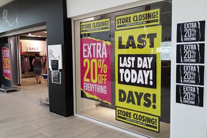 5,500 fashion retailers at risk of insolvency